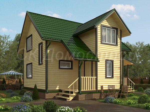 Дом из бруса «Порхов»