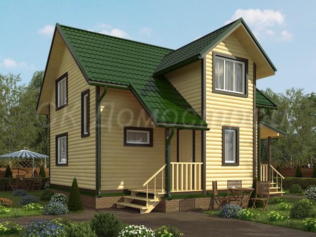 Проект дома из бруса со вторым светом