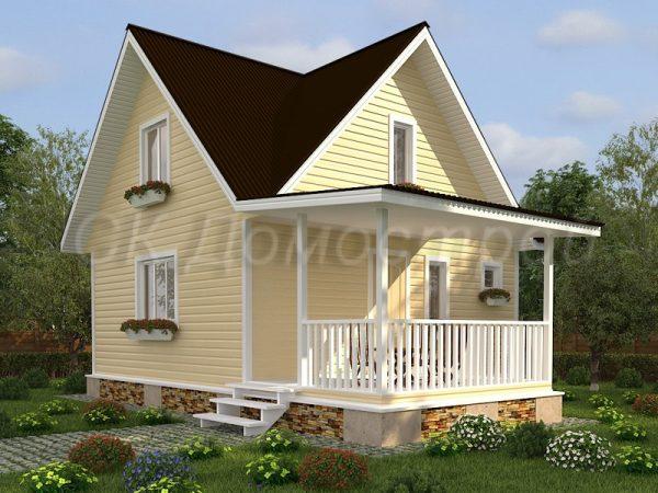 Каркасный дом 6х7 «Белов»
