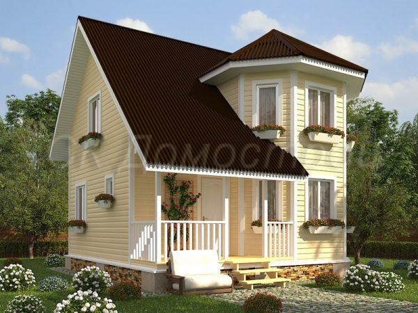 Каркасный дом 7х7 «Владимиров»