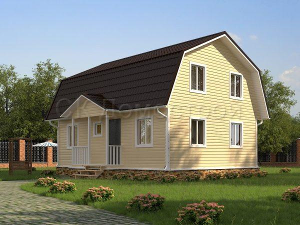 Дом «Богданов» 7х9 м