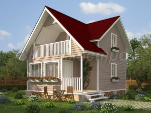Дом «Гусев» 6х7,5 м