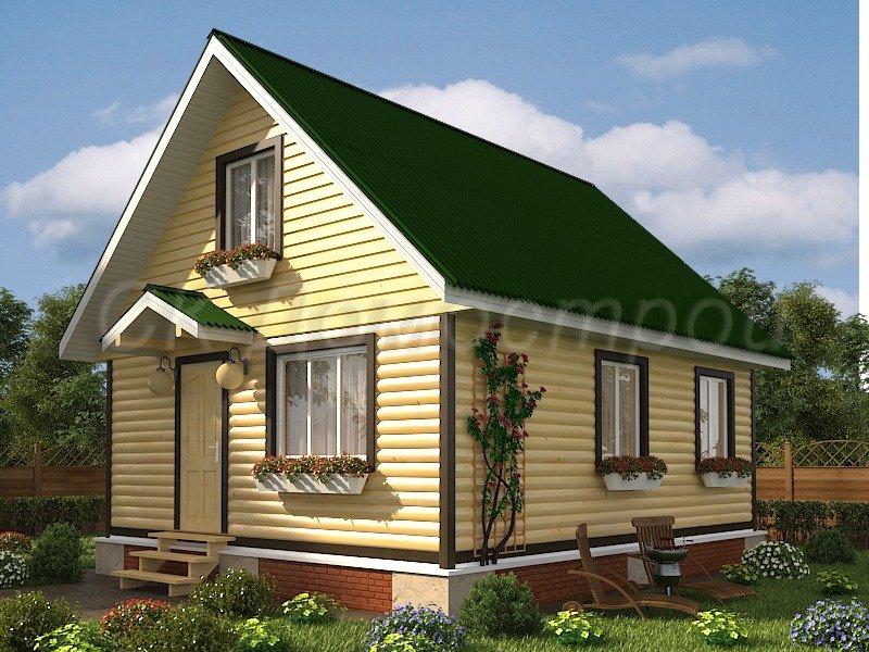 Проекты домов из профилированного бруса цены на дома