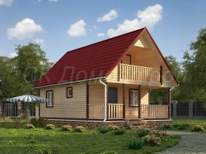 Бесплатный проект дома из бруса