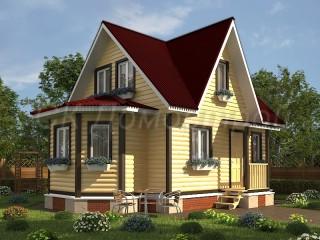Зимний дом из бруса