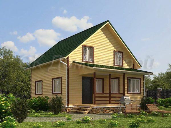 Дом из бруса «Томск»