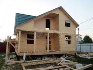 Дом под усадку 6х8 деревня Медвежьи Озера