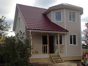 Каркасный дом 7х7 Сосновый бор