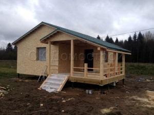 Каркасный дом 7,5х7,5 поселок Шум