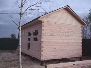 Сруб бани 4х6 деревня Турышкино