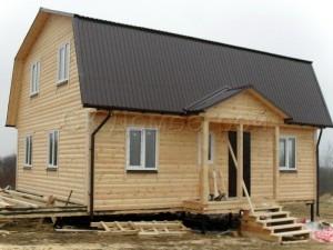 Каркасный дом 7х9 деревня Яльгелево
