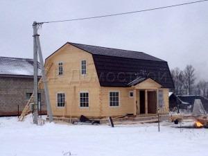 Сруб дома для постоянного проживания