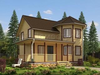 Проект дома из бруса 8 на 9