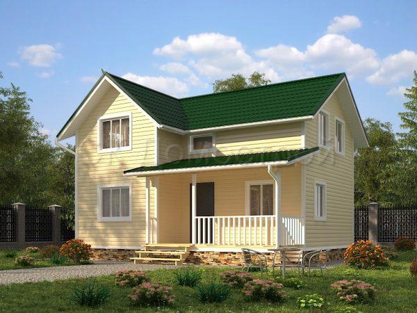 Каркасный дом 7,5х9 «Игорьев»