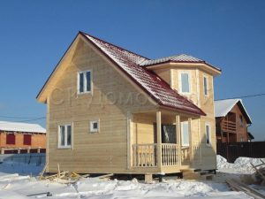 Дом из бруса 7х7 деревня Дубенское