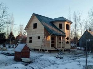 Сруб дома в Волховском районе