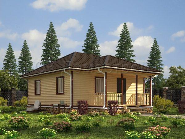 Дом из бруса «Дубна»