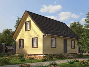 Проект дома из бруса 6х9