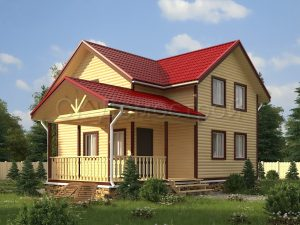 Проект дома из бруса 8х10