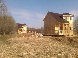 Два дома из бруса 7х7 деревня Чубарово