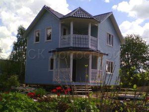 Каркасный дом 6,5х6,5 СНТ Рябинки
