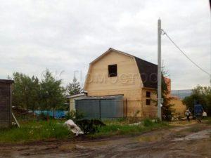 Сруб дома в Москве