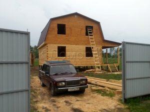 Сруб дома во Владимирской области