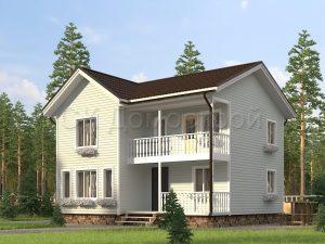 Каркасный дом под обшивку сайдингом
