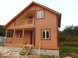 Дом из бруса 6х8 деревня Лихун
