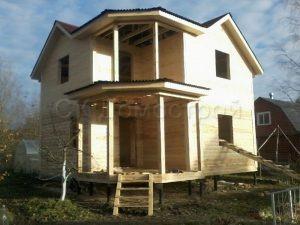 Сруб дома в Тосненском районе