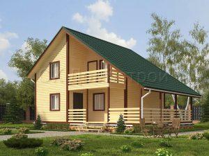 Дом из бруса камерной сушки