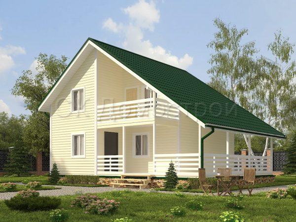 Каркасный дом 8х10,5 «Булатов»