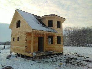 Сруб дома в Рязанской области
