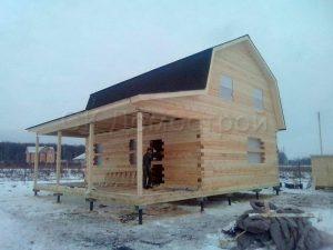 Сруб дома в Тульской области