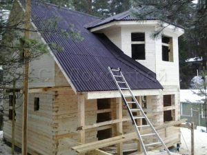 Дом под усадку 7х7 деревня Лешково