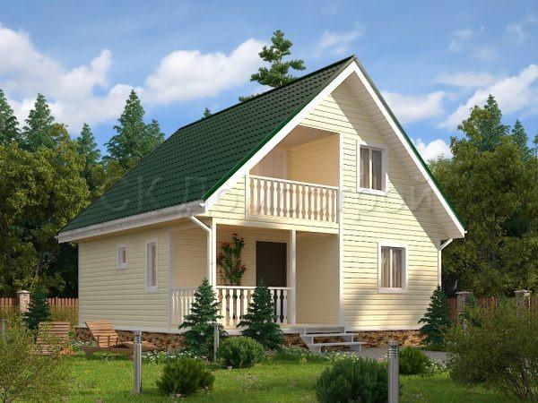 Каркасный дом 8х8 «Антипов»