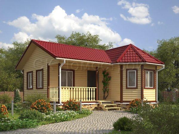 фото домов из бруса одноэтажных домов