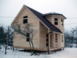 Сруб дома в Рыбинске