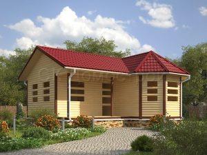 Проект одноэтажного сруба дома 6х8
