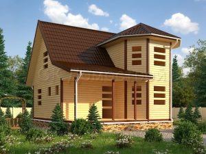 Деревянный сруб дома