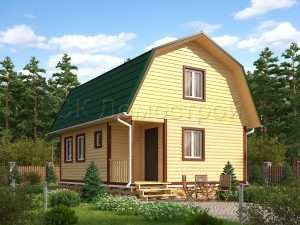 Дачный дом 6х8 с мансардой