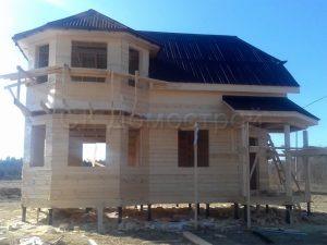 Строительство дома из бруса под усадку в Лужском районе