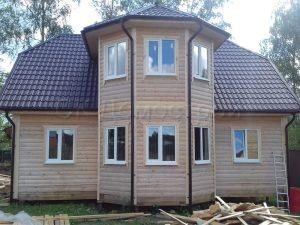 Двухэтажный дом из бруса 10х10