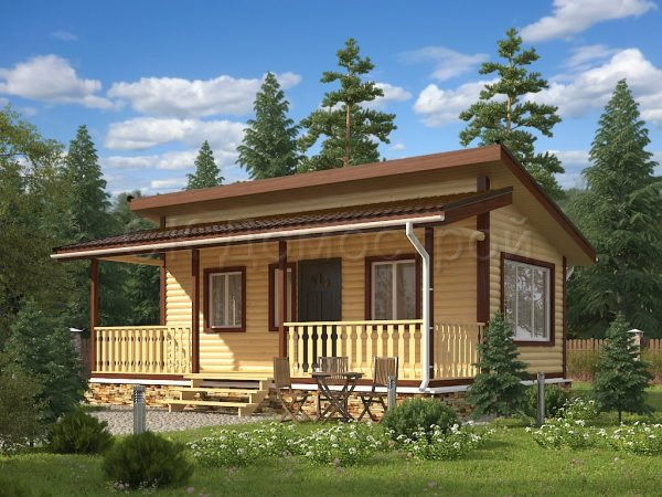 Проект финского одноэтажного дома из бруса