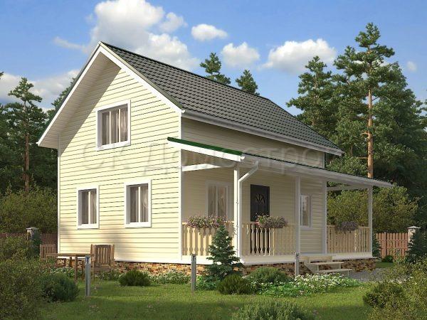 Каркасный дом 6х8 «Кузьмин»