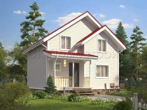 Каркасный дом с 4 комнатами
