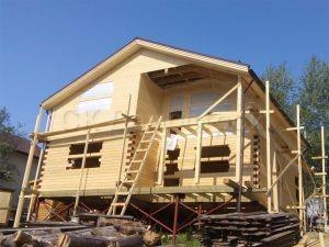 Строительство сруба дома в Кеми