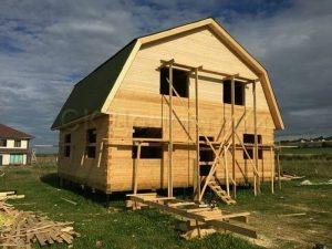 Строительство сруба дома в Ломоносовском районе