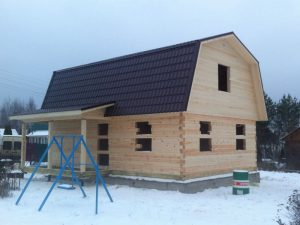 Строительство дома из бруса под усадку в Наро-Фоминском районе