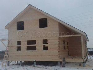 Строительство дома из бруса под усадку в Ломоносовском районе
